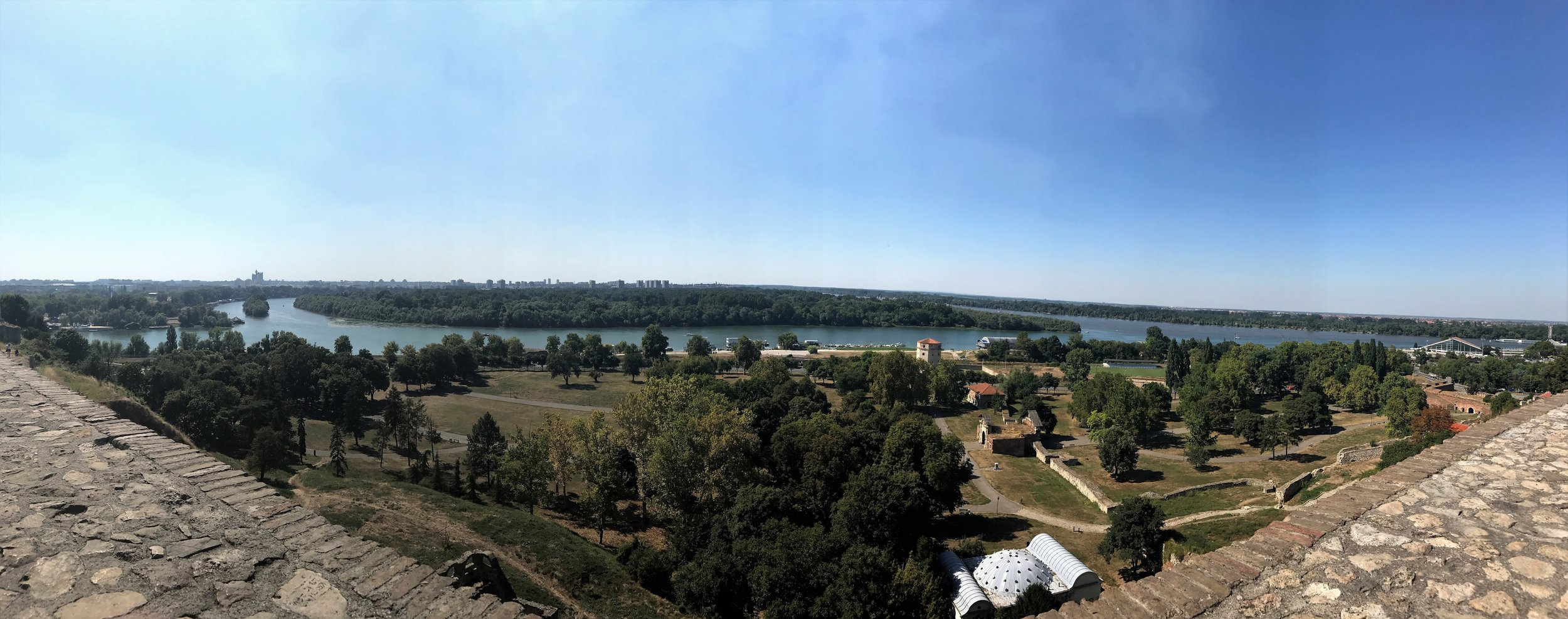 View from Belgrade Fortress