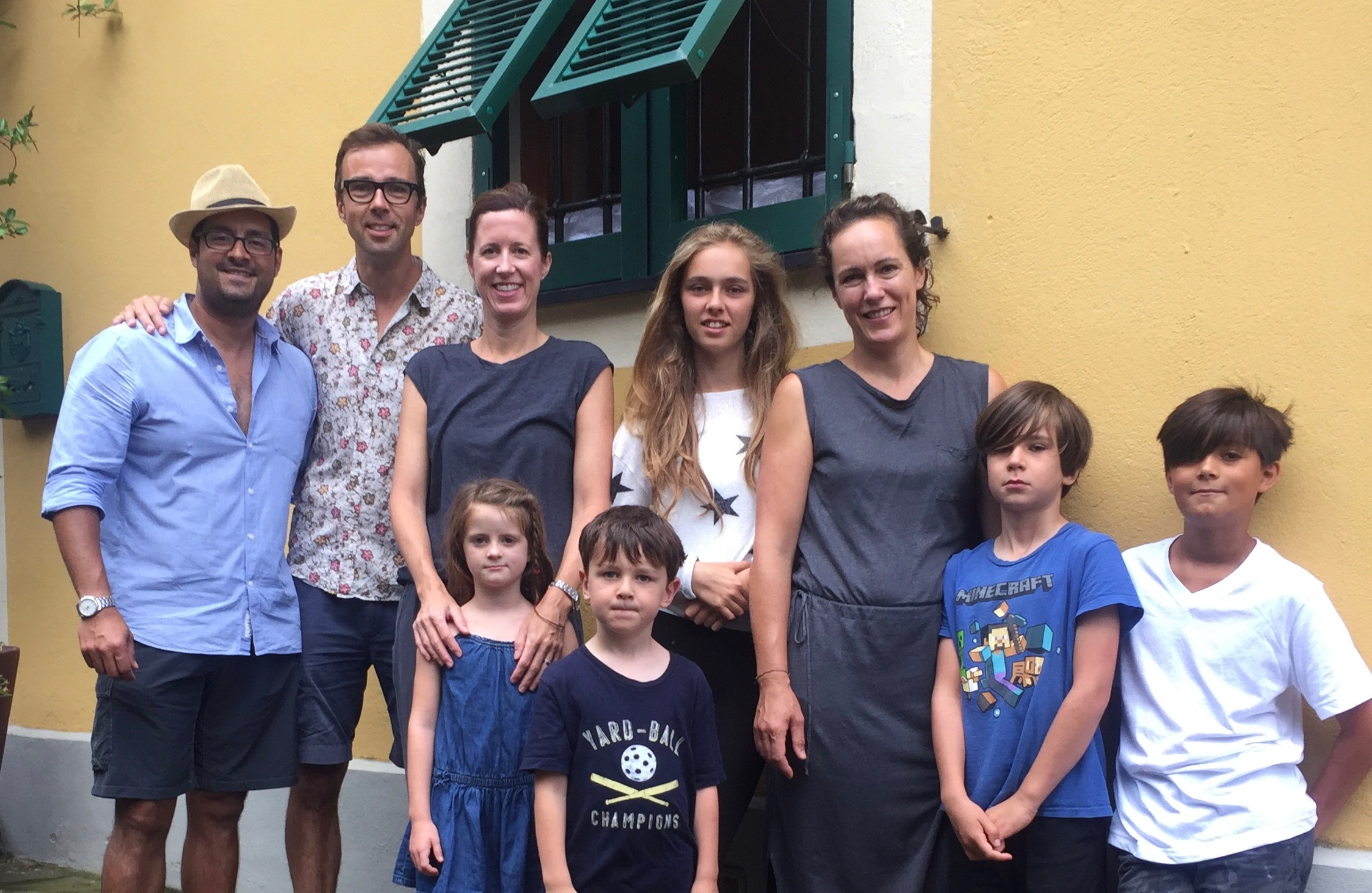 Our families together in italy.