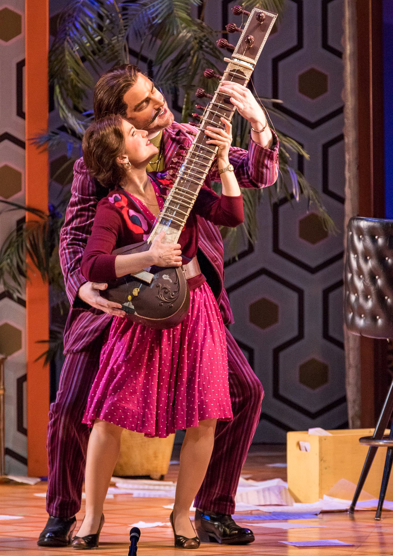 Rosina in Michael Shell's production of  Il barbiere di Siviglia  at Virginia Opera. Photo by Ben Schill Photography.