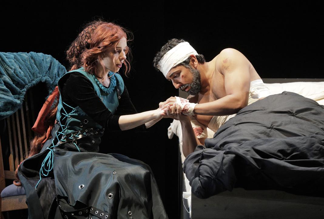 Golaud in  Pelléas et Mélisande  with West Edge Opera directed by Keturah Stickann. Photo by Cory Weaver.