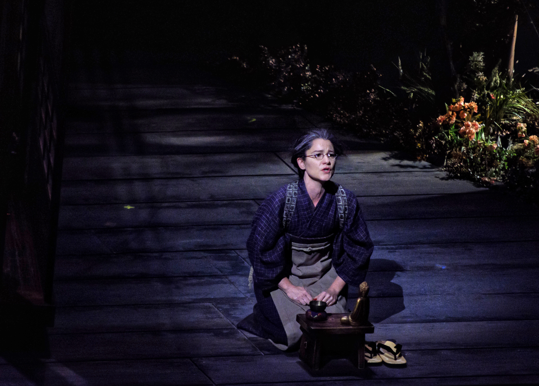 Suzuki in  Madame Butterfly  directed by Matthew Ozawa at The Santa Fe Opera. Photo by Bobby Gutierrez.