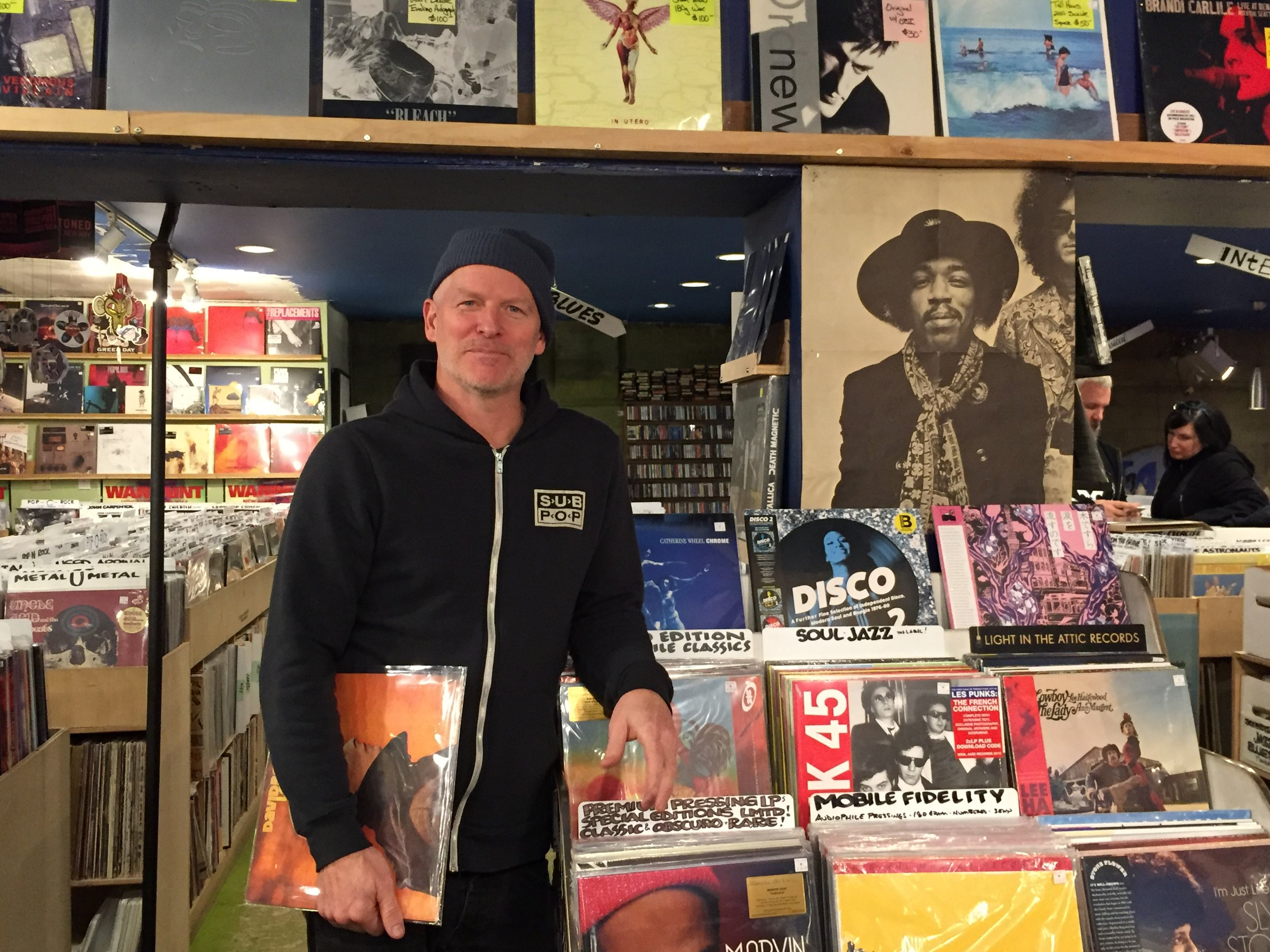 Vaughan in the Vinyl Loft