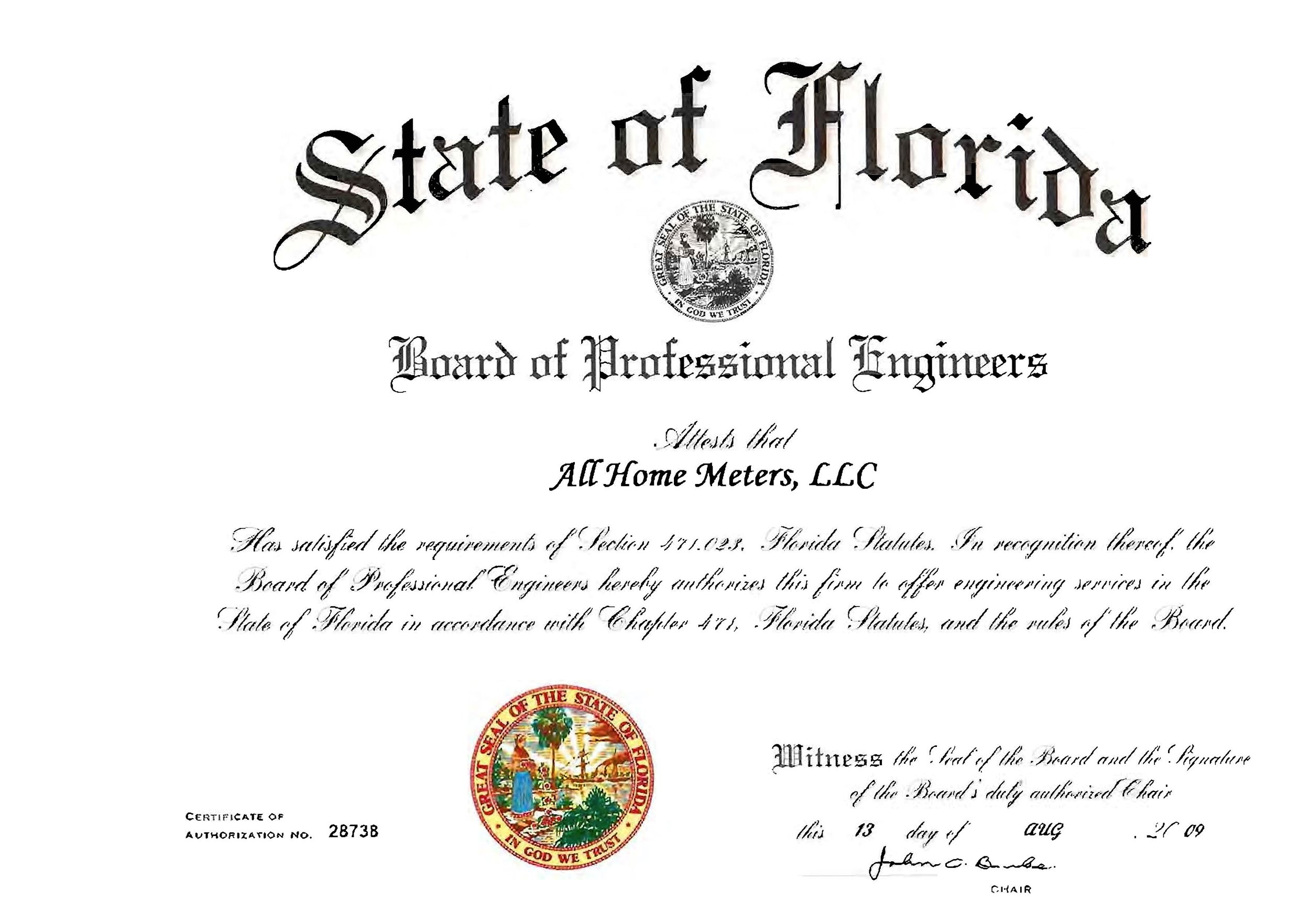 Certificate of Use / Occupancy. - BEST QUALIFICATIONS.