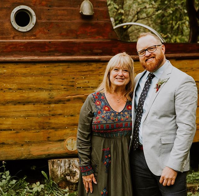 There are not many things my Mom hates more than getting her picture taken, but I found a good one in our wedding album. Happy Mom's Day @kandisegarrison. Thanks for your ever present support and encouragement!