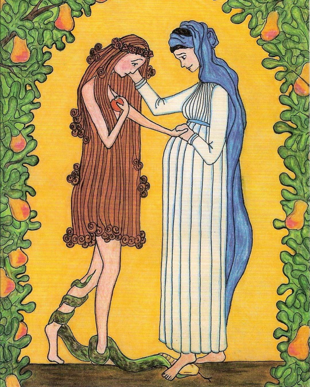 Virgin Mary Consoles Eve  by Sr Grace Remington, OCSO
