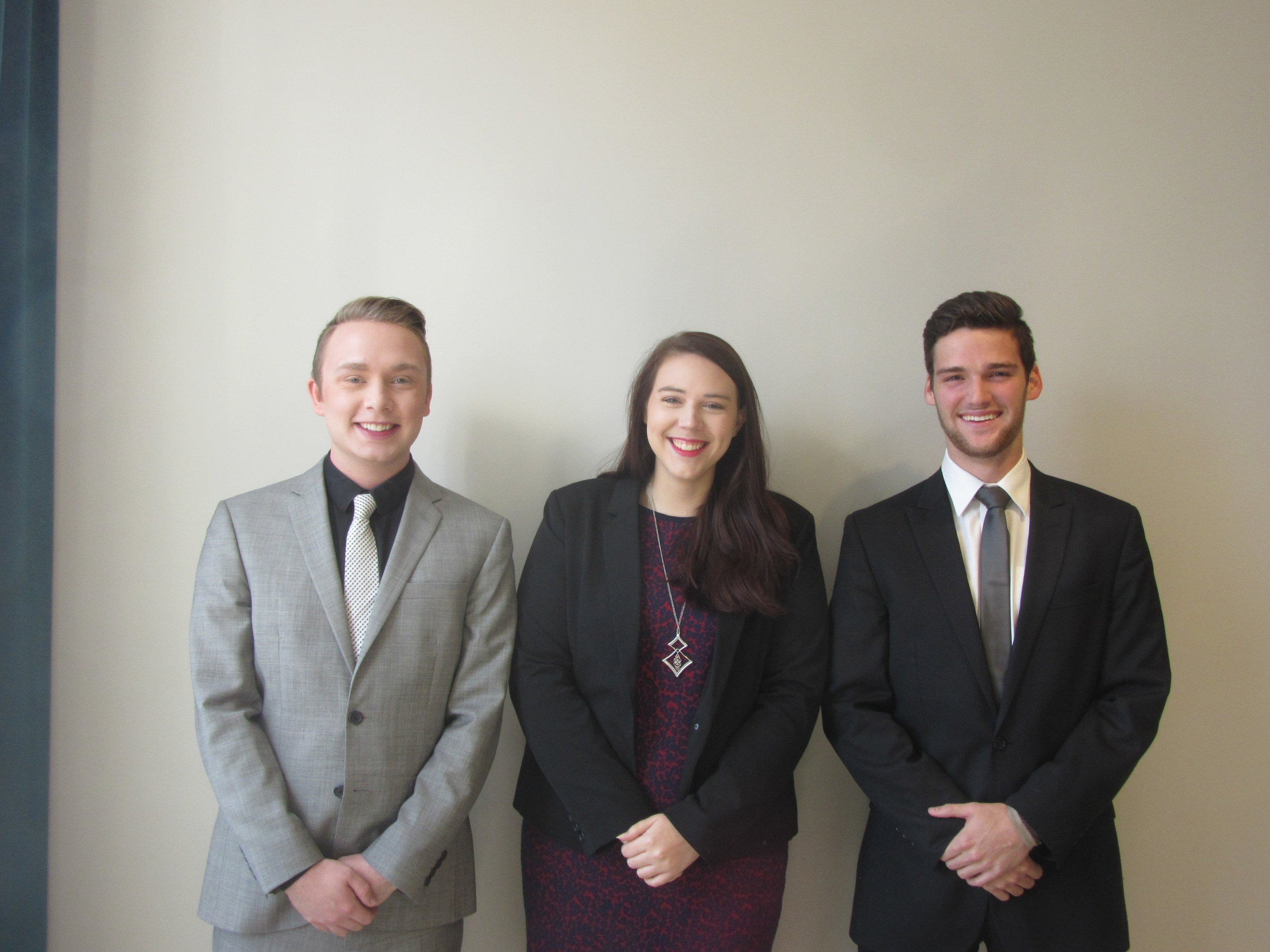 Featuring Perfetto Polish which received the Kevin R. Stump Sr. Overall Entrepreneurship Challenge Award (left to right: Scott Barton, Meredith McAdory, and Dallas Coyne).