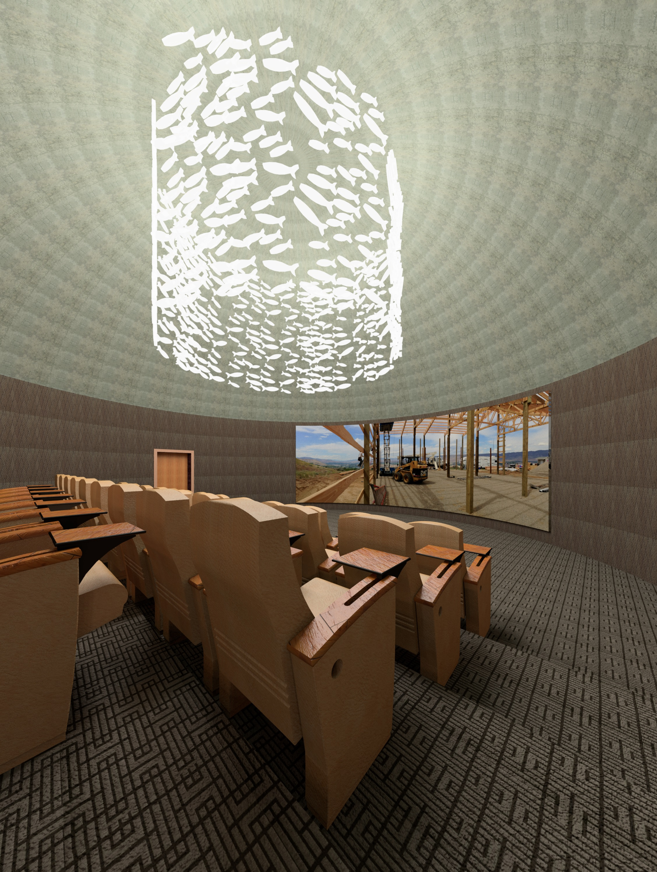 A rendering of the proposed GeoDome. Photo courtesy of Roald Hazelhoff, Southern Environmental Center.