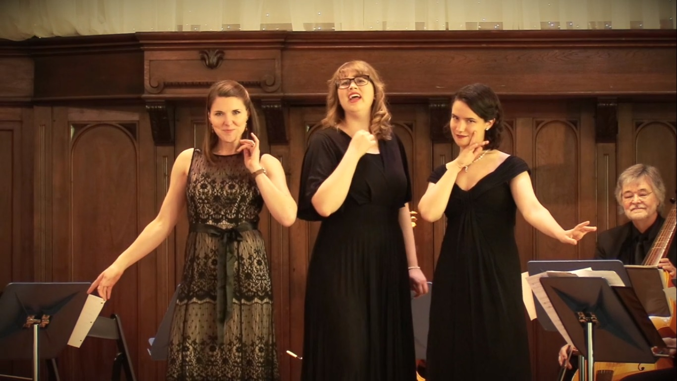 Performing music by Luzzaschi for the Three Ladies of Ferrara with Alchymy Viols. Margaret Haigh, Sarah Coffman, and MaryRuth Lown, sopranos, and Phil Spray, artistic director. Indianapolis, IN, 2018.