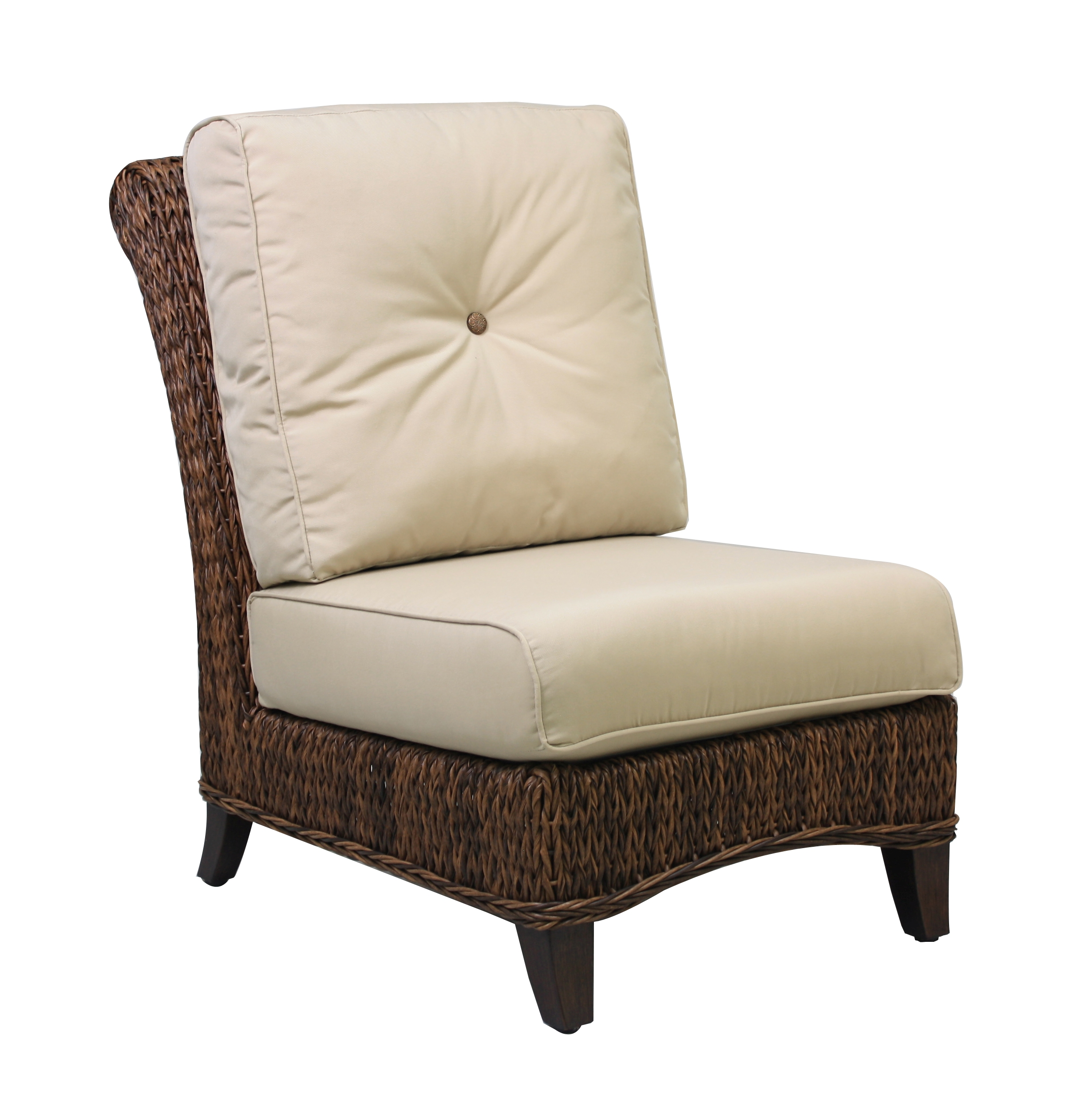 "973831A Antigua Armless Chair   25.9"" x 40.8"" x 38.9"""