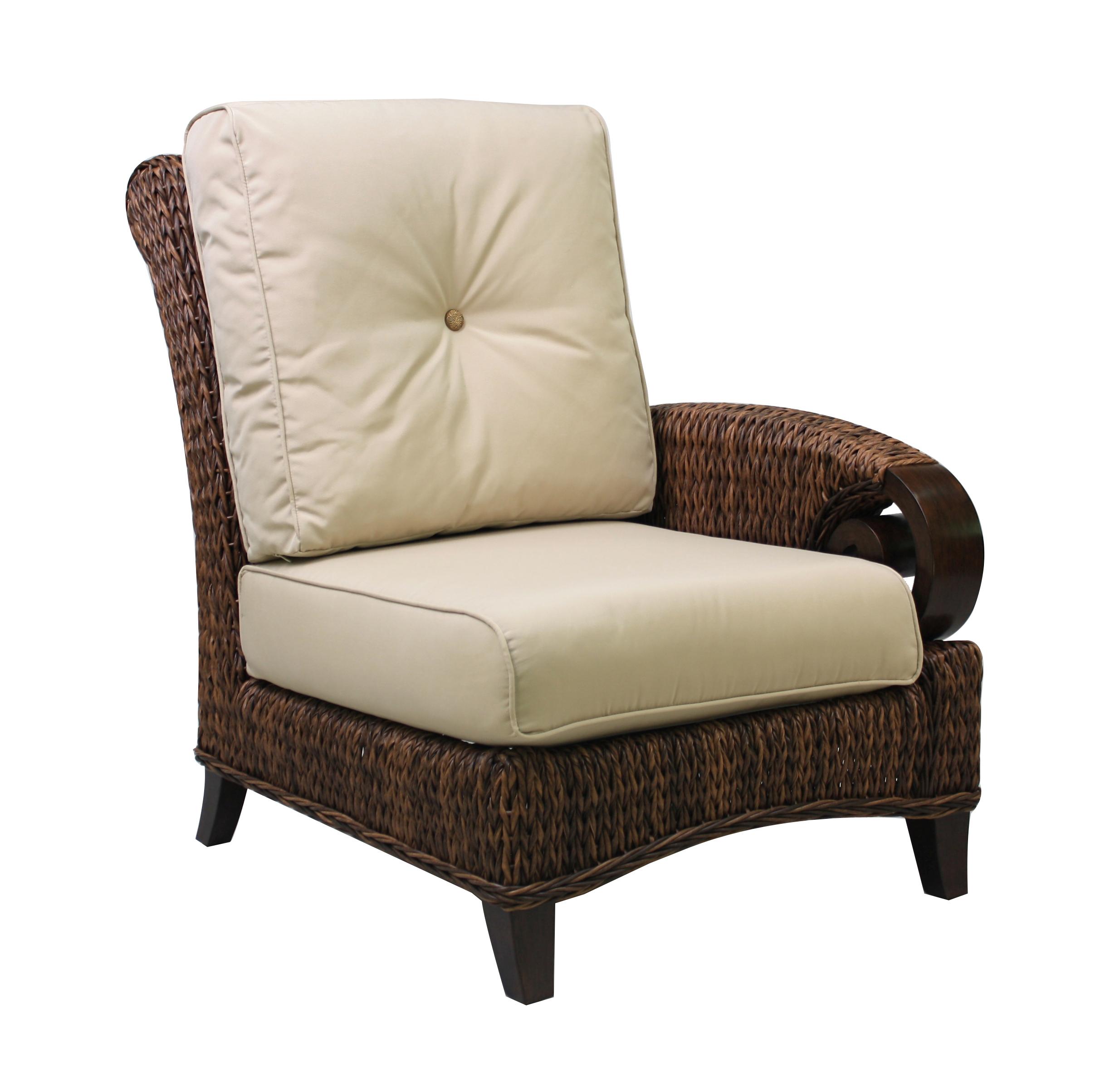 "973831R Antigua Right Corner Chair   30.2"" x 40.8"" x 38.9"""