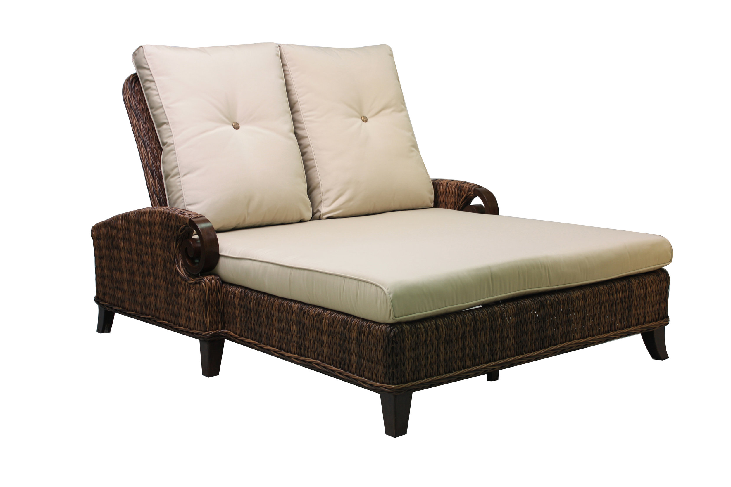 "973854 Antigua Double Adjustable Chaise   85.1"" x 56.5"" x 38.9"""