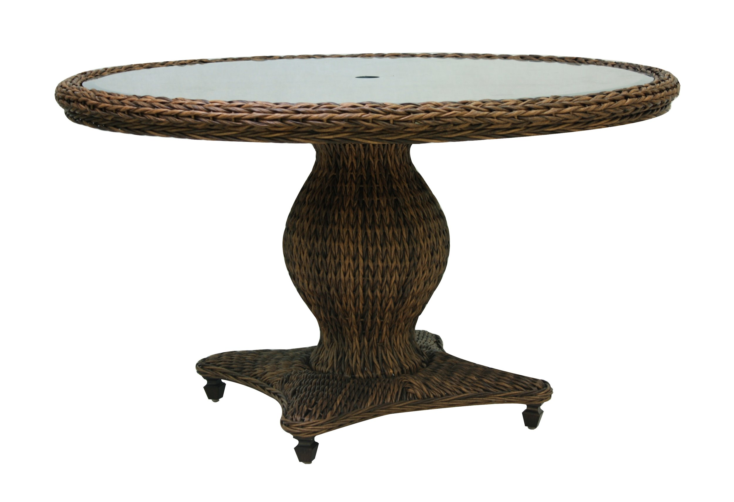 "973860 Antigua 61"" Round Dining Table  *see Book  (973860TW Antigua Woven Top & Glass) (973860B Antigua 61"" Round Dining Table Base)  61"" x 61"" x 30.2"""