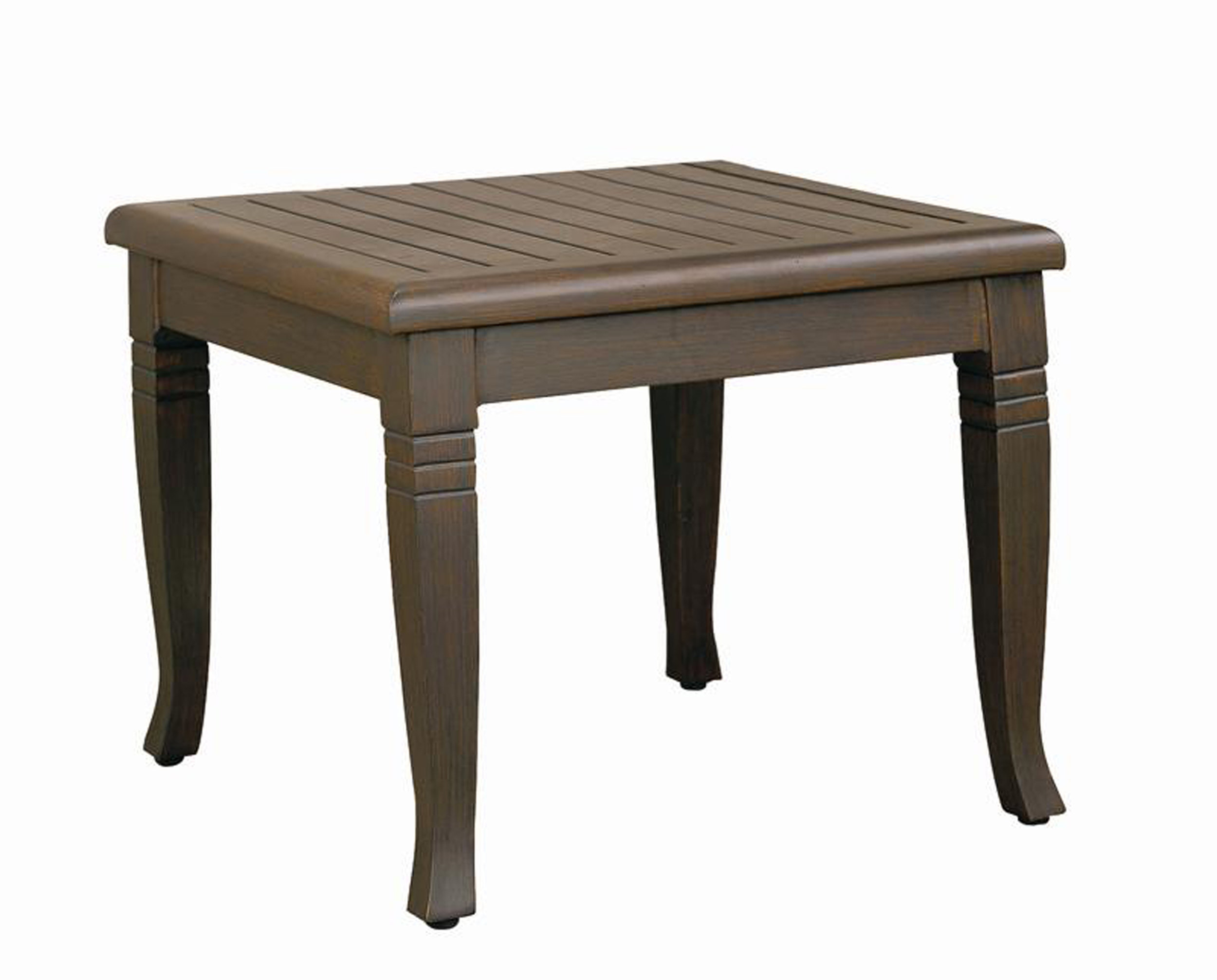 "971224B Catalina End Table Base  (Base only) * See Book  (Top : W-23S Farnham Aluminum Faux Wood Top)  23"" x 23"" x 18.7"""