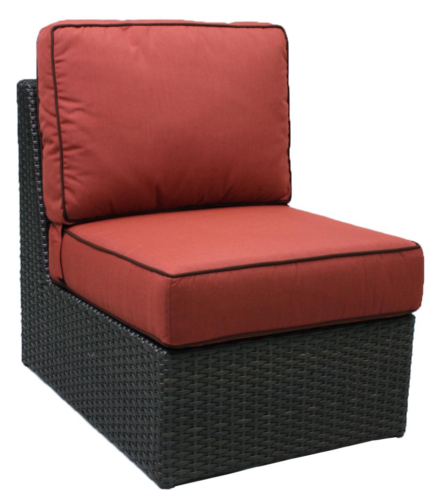 """957231A Del Mar Armless Chair   26"""" x 35"""" x 31"""""""