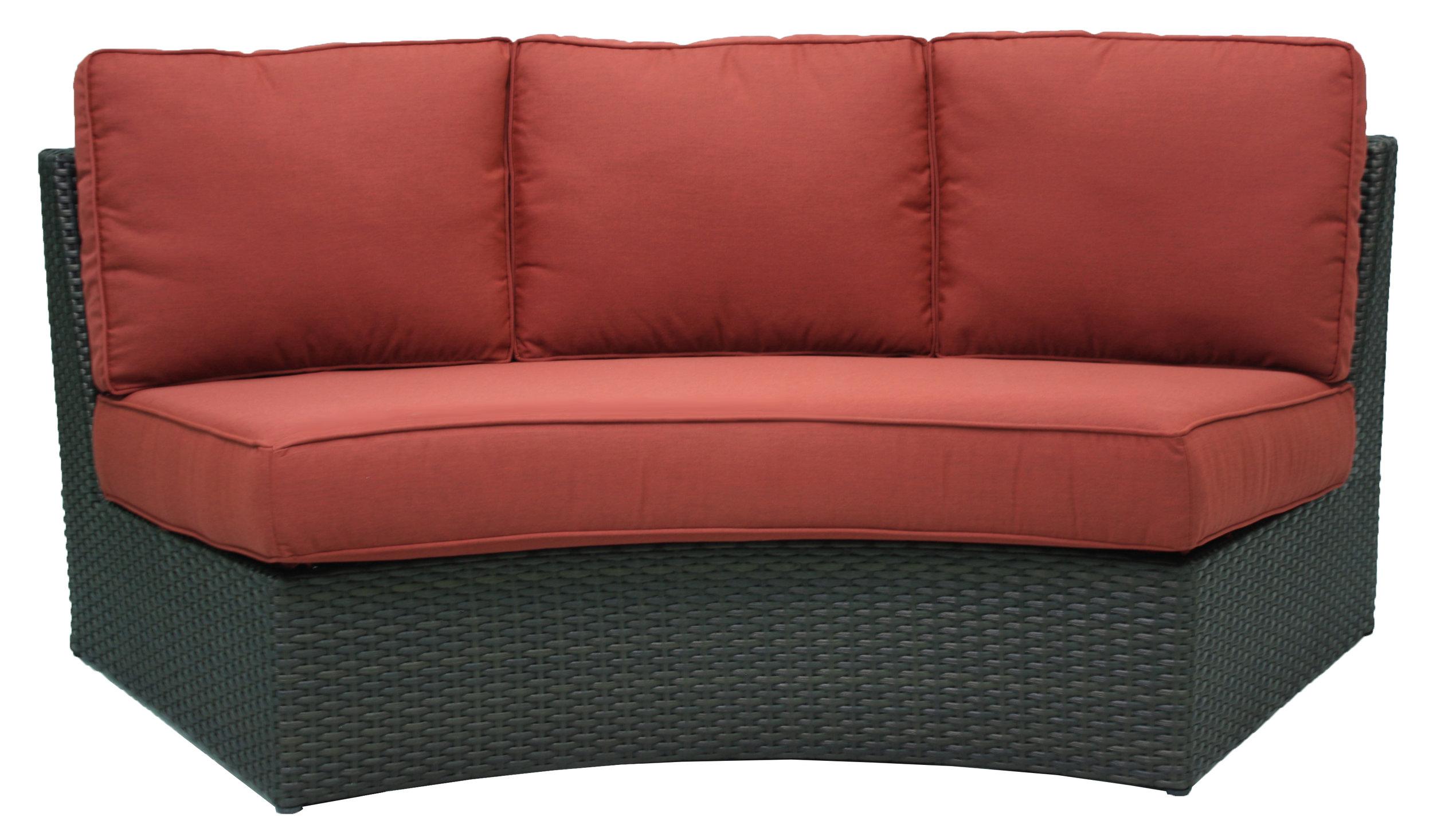 """957270 Del Mar Crescent Armless Sofa   42"""" x 11.5"""""""