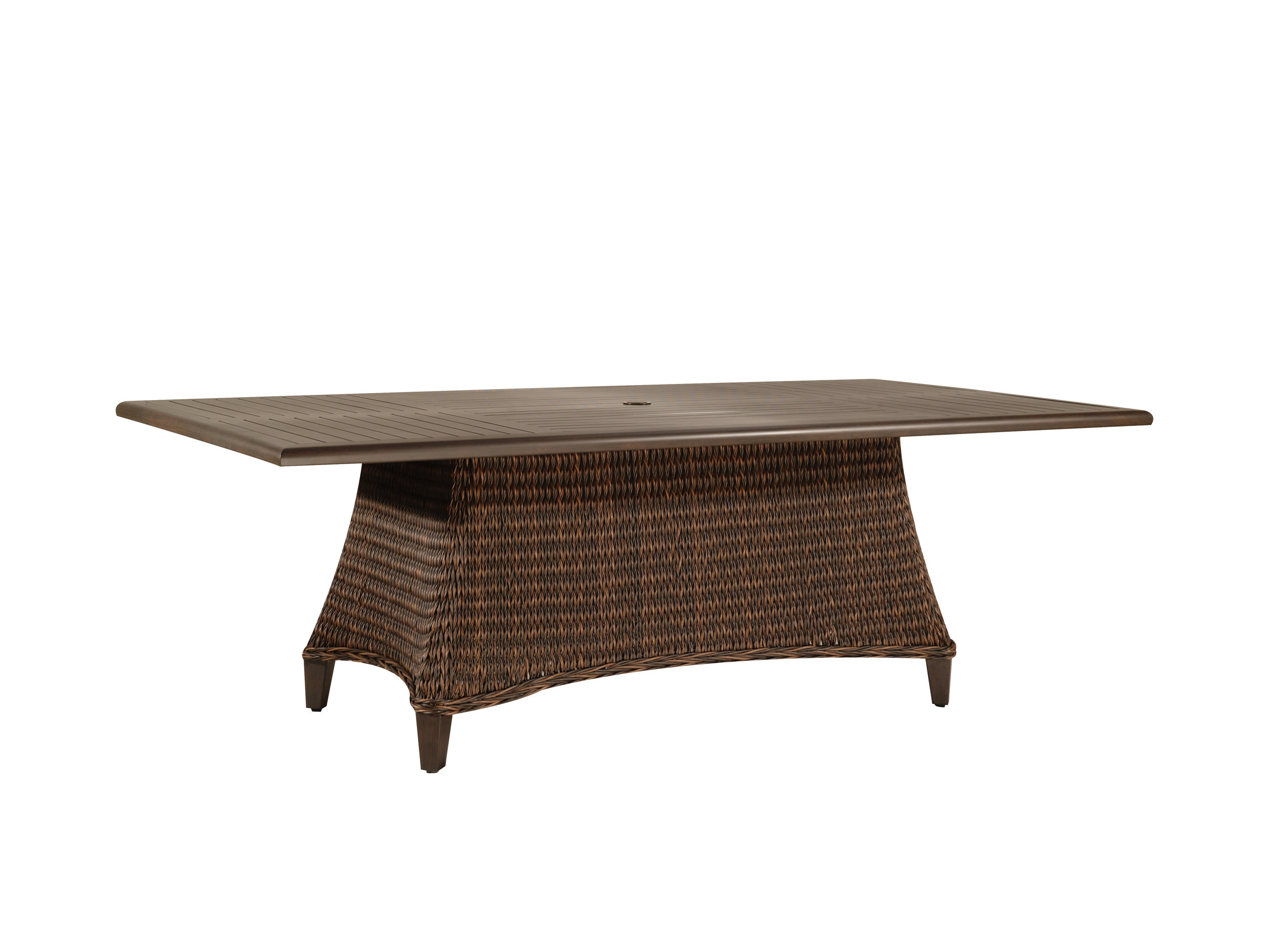 "973084B Monticello 84"" Dining Table Base   (Top : W-42R Farnham Aluminum Faux Wood Top)  28.8"" x 58.8"" x 27.5"""