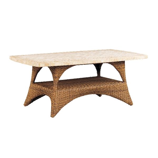 "970205B Cayman Coffee Table Base   (Top : BC-2347 Regent Aluminum Faux Stone Top)  35"" x 21"" x 17.5"""