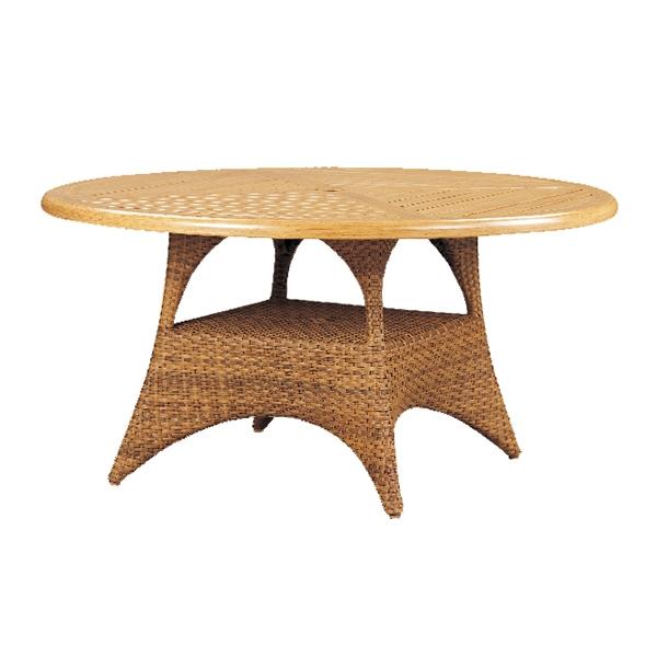 "970242B Cayman Conversation Table Base   (Top : W-42R Farnham Aluminum Faux Wood Top)  26.2"" x 26.2"" x 22.8"""