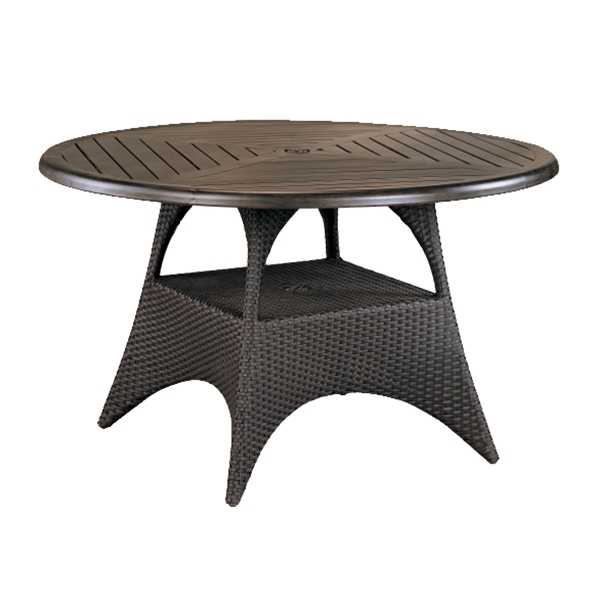 "970248B Cayman 48""/54"" Dining Table Base   (Top : W-48R Farnham Aluminum Faux Wood Top)  28"" x 28"" x 27.5"""
