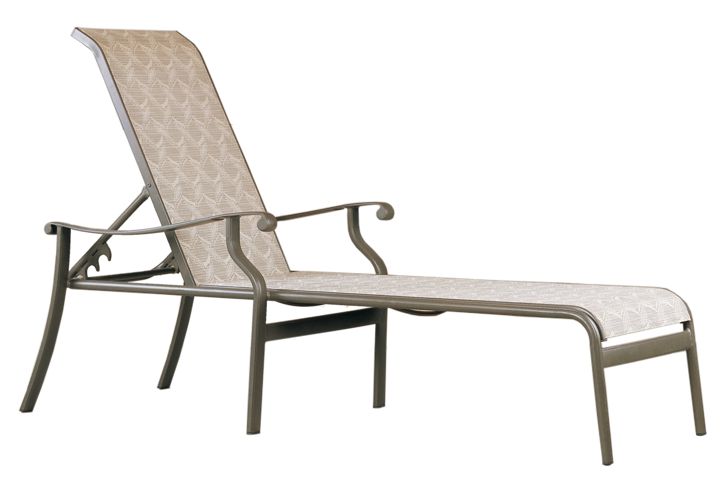 "970551 Mandalay Single Adjustable Sling Chaise   28"" x 81"" x 23.4"""