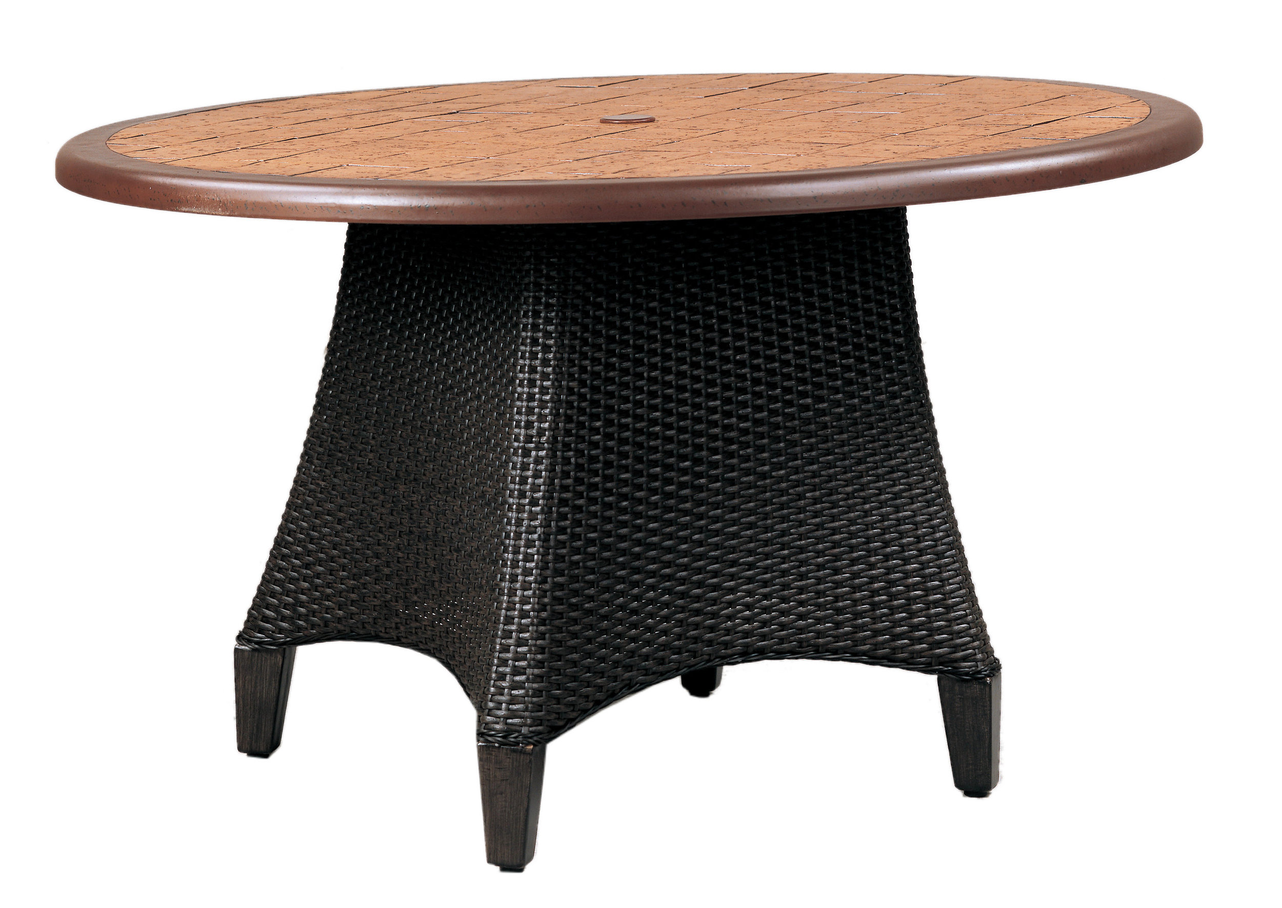 "970148B Monterey Dining Table Base   (top : CS-48S Grandeur Aluminum Faux Stone Top)  25.3"" x 25.3"" x 27.5"""