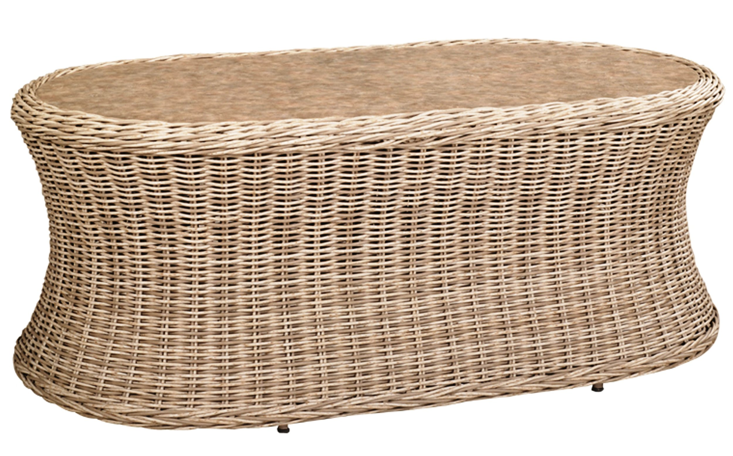 """971935 West Hampton Oval Coffee Table * Erie Top *    971935W West Hampton Oval Coffee Table * Woven top *   48"""" x 26"""" x 19"""""""
