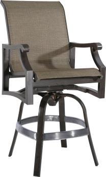 "970812 Venice Sling Swivel Bar Chair   27.4"" x 28"" x 48"""