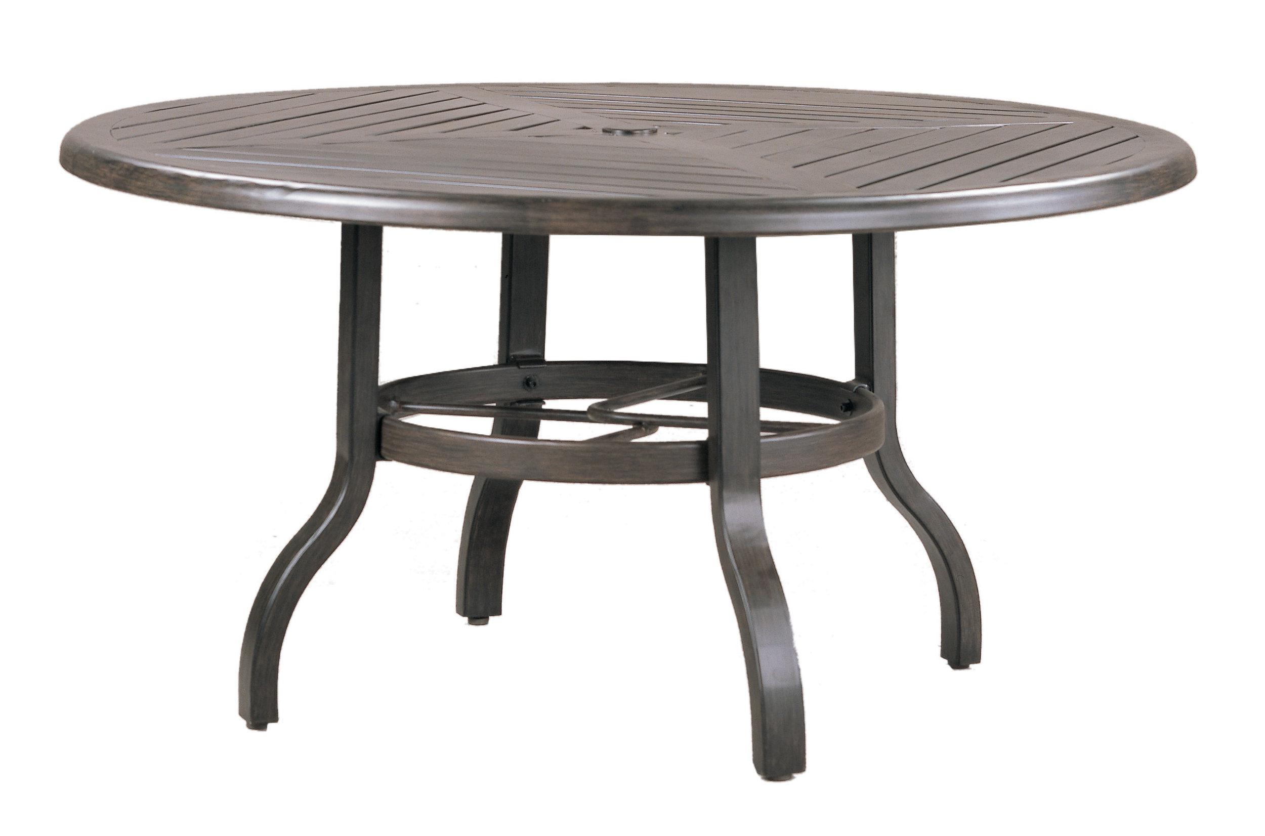 "970842B Venice Conversation Table Base (Base only)   * See Book  (Top : W-42R Farnham Aluminum Faux Wood Top)  25"" dia x 23"""