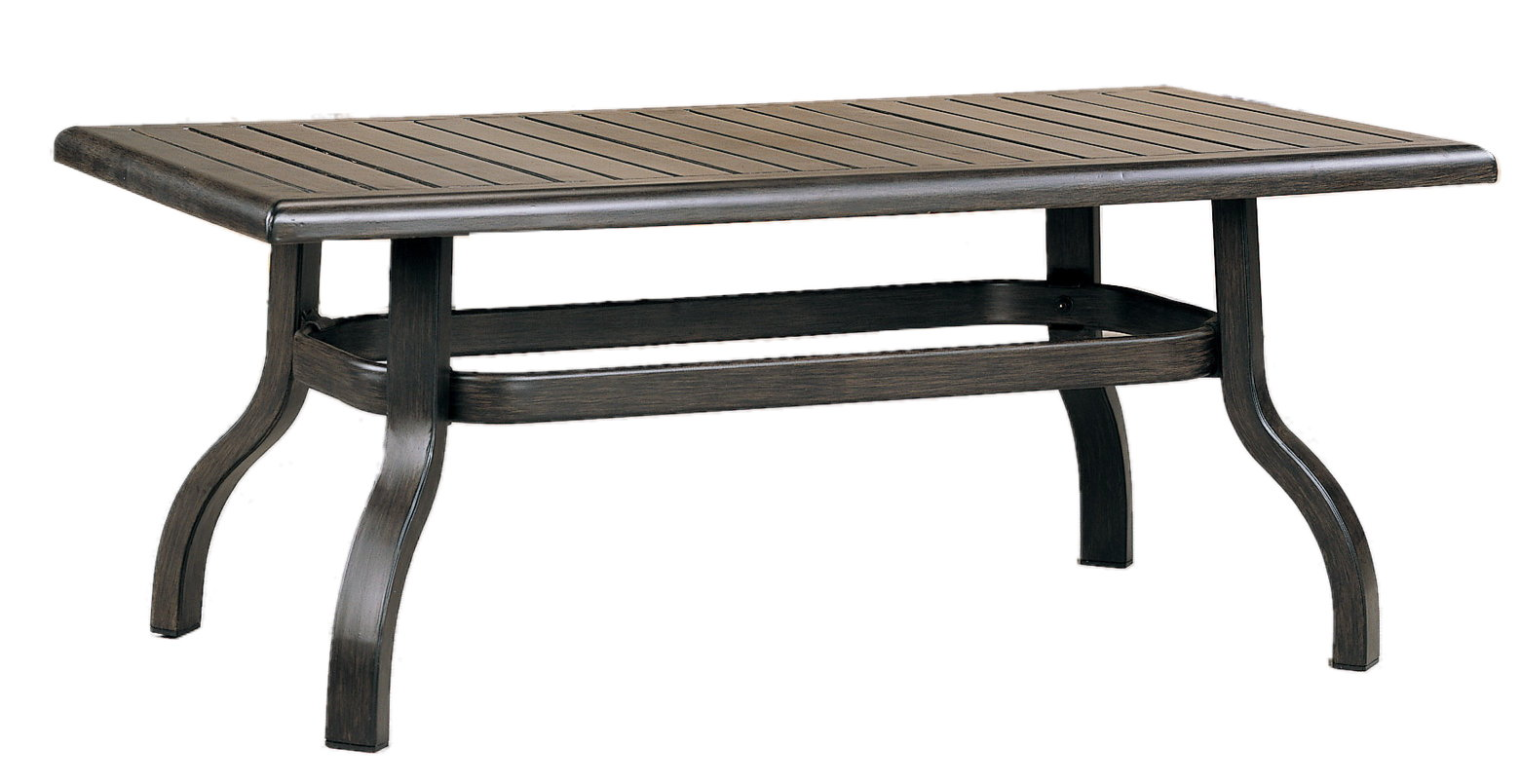 """970805B Venice Coffee Table Base (Base only)       * See Book  (Top : W-2648 Farnham Aluminum Faux Wood Top)  38"""" x 20.5"""" x 17.7"""""""