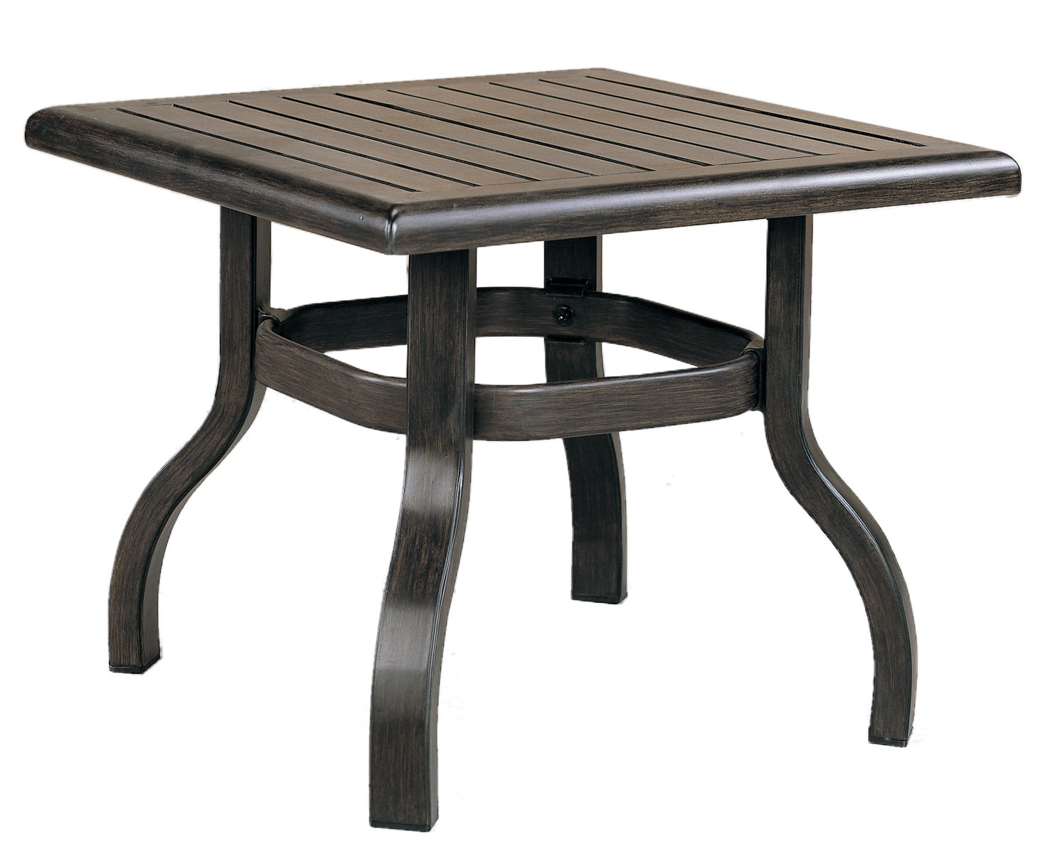 """970824B Venice End Table Base (Base only)         * See Book  (Top : W-23S Farnham Aluminum Faux Wood Top)  20"""" x 20"""" x 17.7"""""""