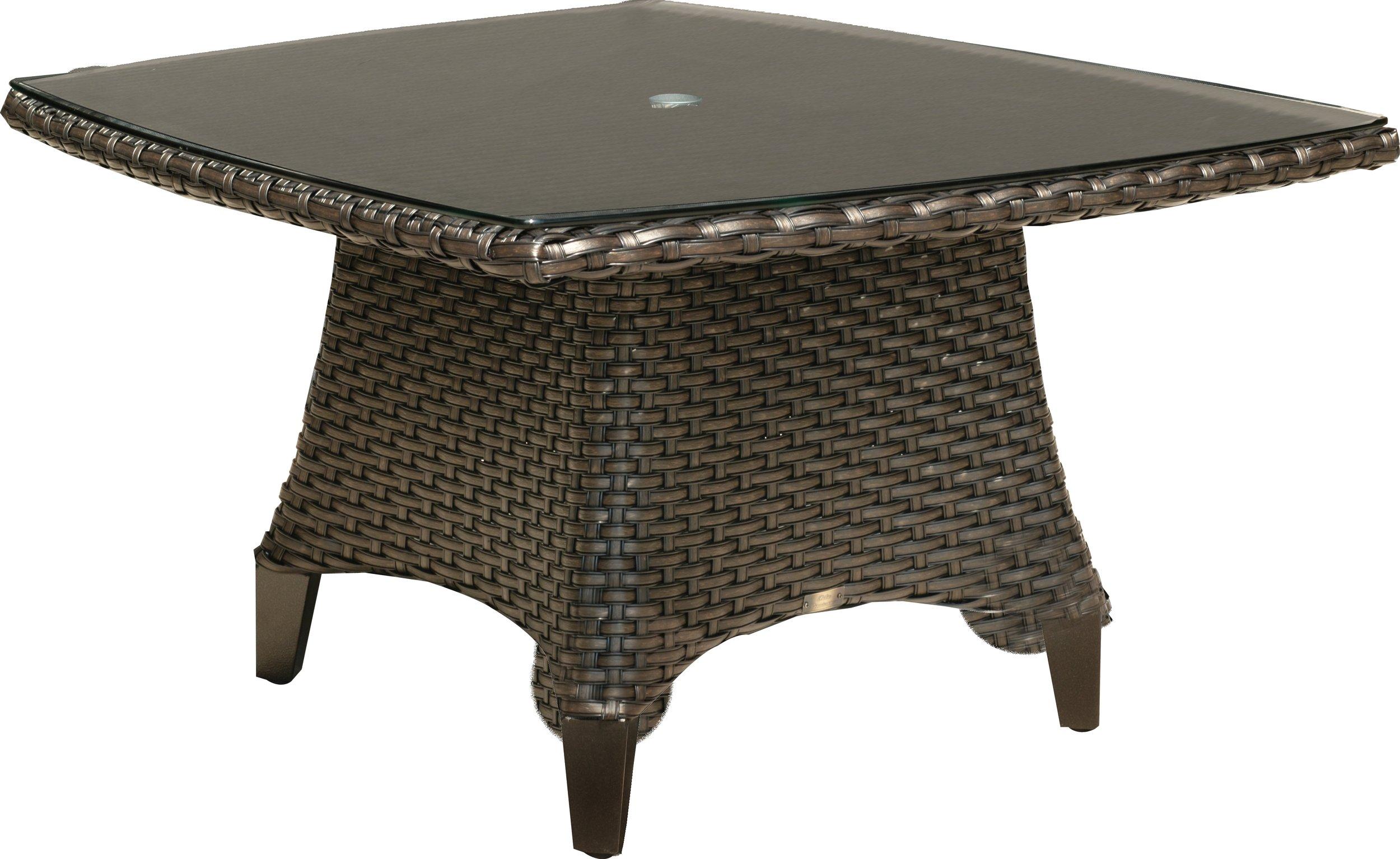"971542 Kapaa 42"" SR Conversational Table w/ Woven Top   42"" x 42"" x 24"""