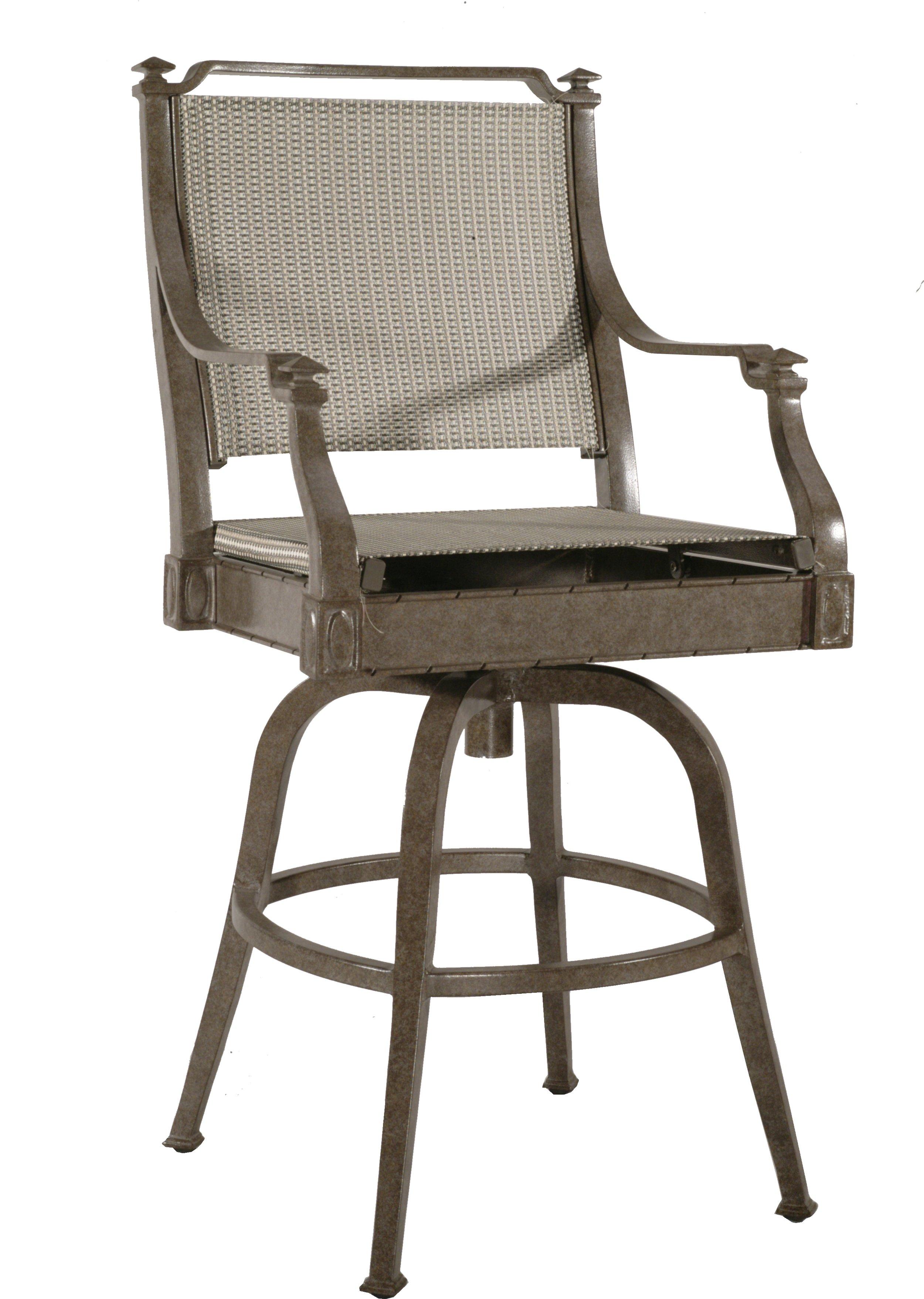 "972012S Newport Sling Swivel Bar Chair   24"" x 28"" x 49"""