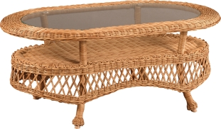 "950536 Rivierra Large Oval Coffee Table   40"" x 25"" x 17"""