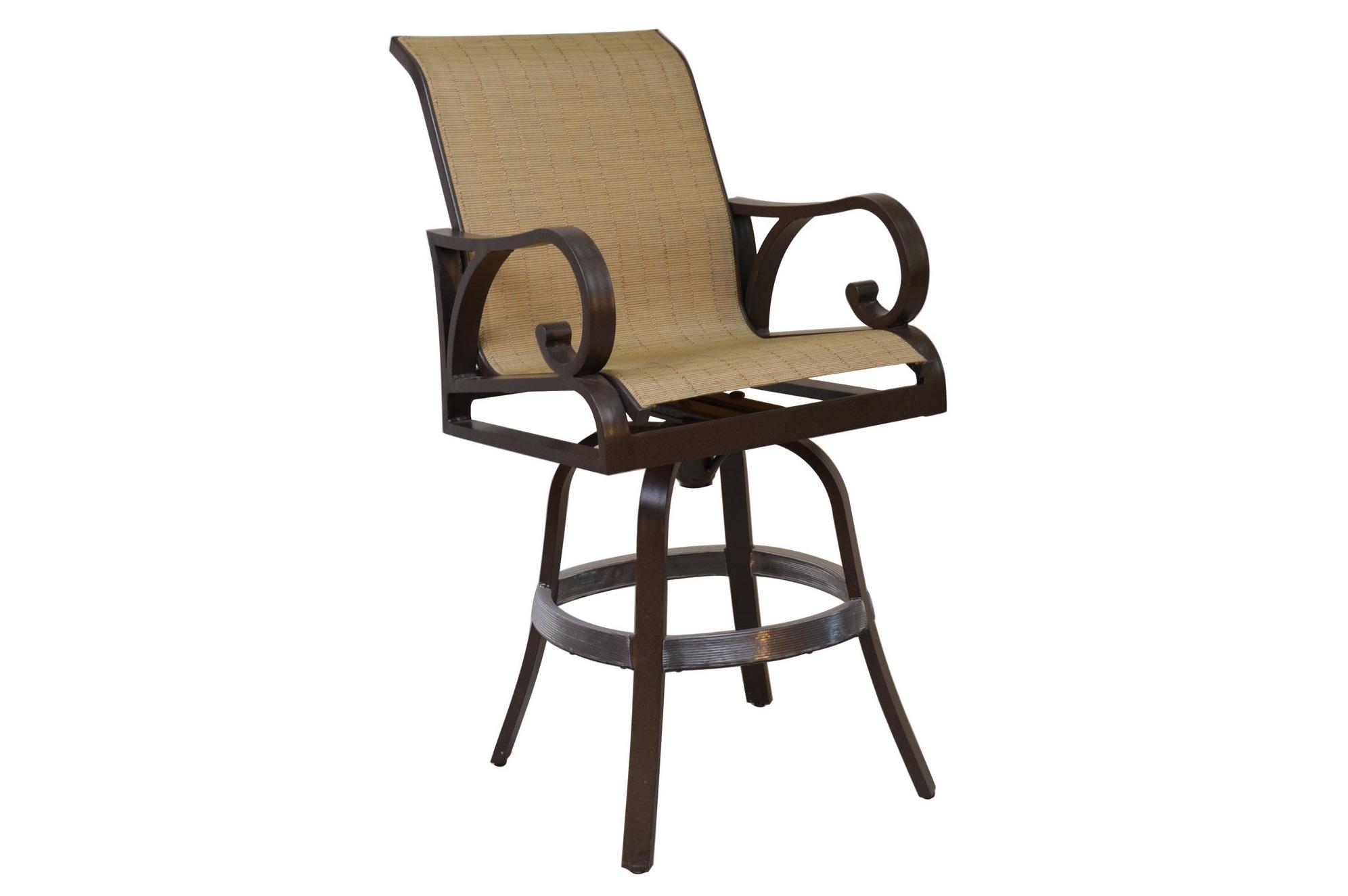 601508 Key Largo Swivel Bar Chair   24.5 x 30 x 48.4