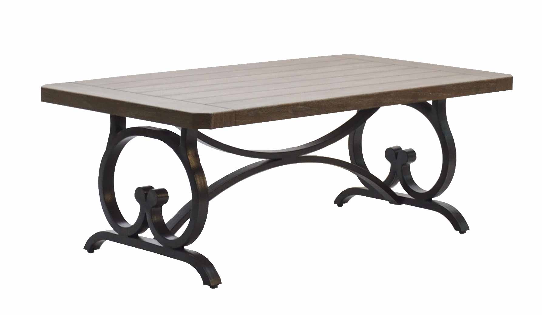 """601535 Key Largo New Rectangular Coffee Table  (Base only) * See Book *  (Top : NHPT-2648 New Hampton 26"""" x 48"""" Rect. Coffe Table Top)  26 x 48 x 18.5"""