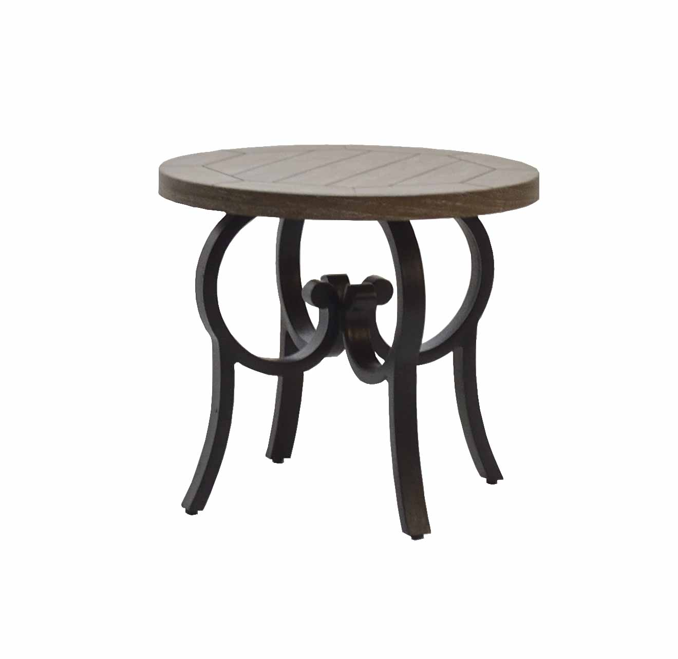 """601524 Key Largo New End Table  (Base only) * See Book *  (Top : NHPT-24 New Hampton 24"""" Round End Table Top)  24"""" dia x 20.5"""""""