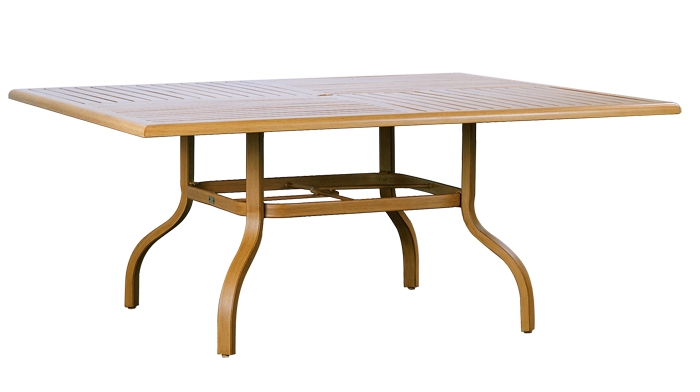 "R-66D 66"" Dining Table Base   Top: W-66S Farnham 66"" Square Wood Top with Hole"