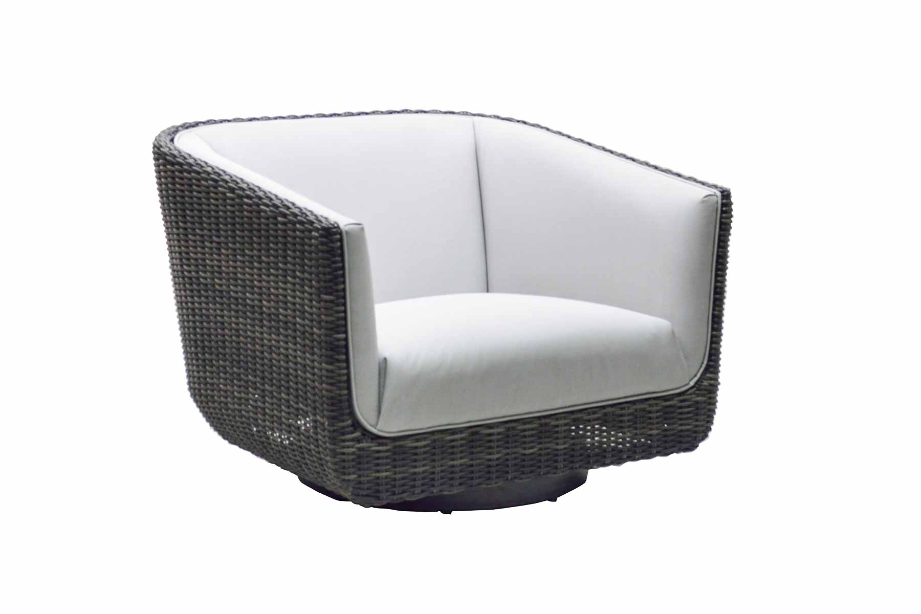 "974228 Tribeca Woven Upholstered Swivel Lounger Chair   34"" x 32"" x 26"""