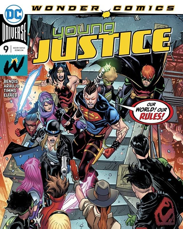 Young Justice #9 is out now! Grab your copy - @johntimmsart  @brianmbendis  @gabeeltaeb  #MichaelCotton  @ms_brittanyjean  @dccomics  #YoungJustice #wondercomics