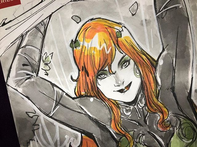 """""""All I have is the Green."""" I had lots of fun during #NYCC and will be posting updates, #art, #covers and more this week #johntimmsart #johntimms #ivy #poisonivy #dccomics #commissions #commission #redhair"""