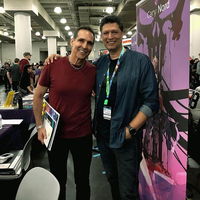 The amazing @toddmcfarlane came to my booth during #nycc #nycc19 It was a pleasure meeting #TheLegend and congratulations the #guinessrecord he received for #spawn301 - #toddmcfarlane #johntimms #theartofjohntimms I will be uploading images all week #Manhattan @NY_Comic_Con