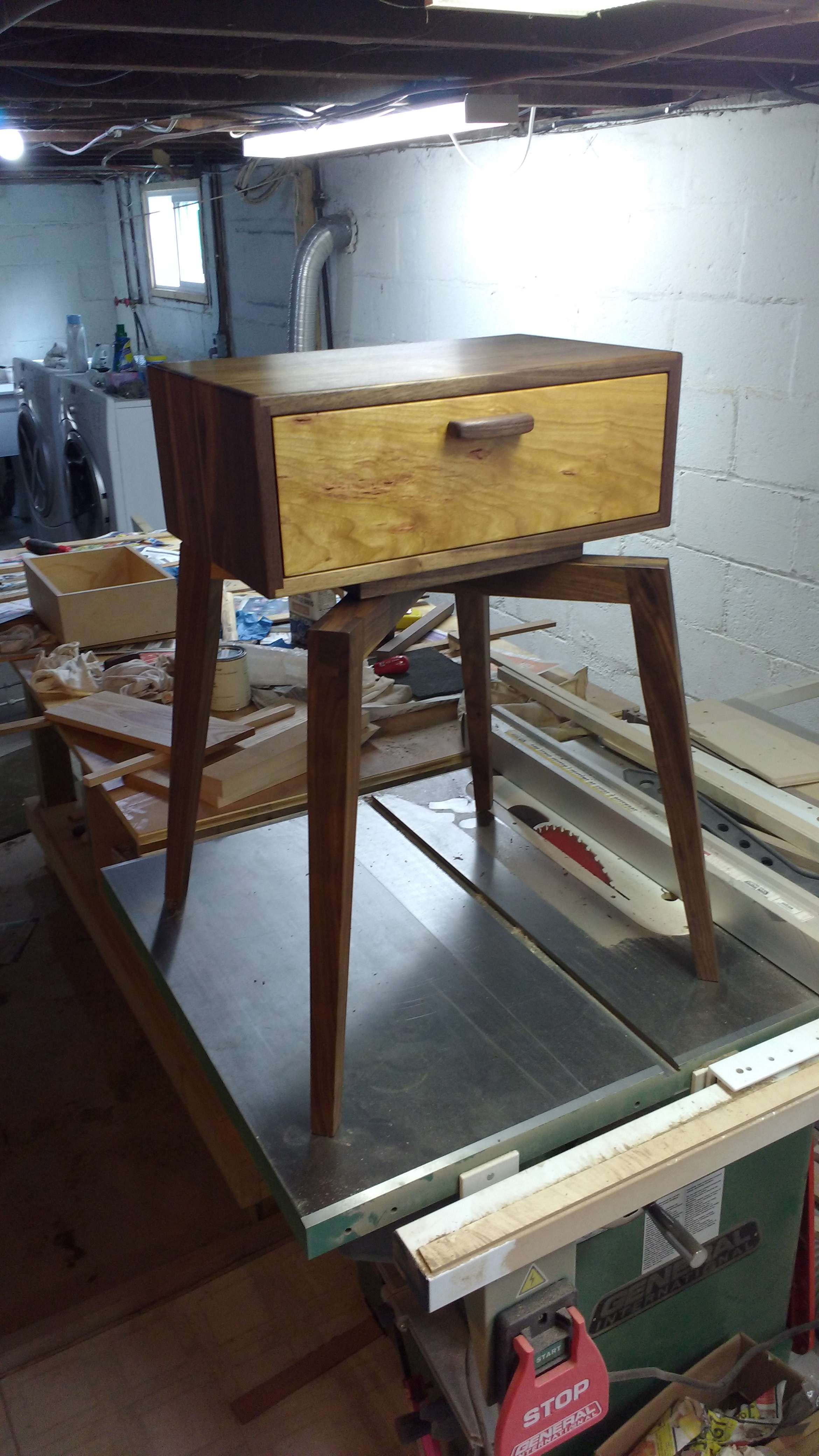 Solid Walnut Bedside table