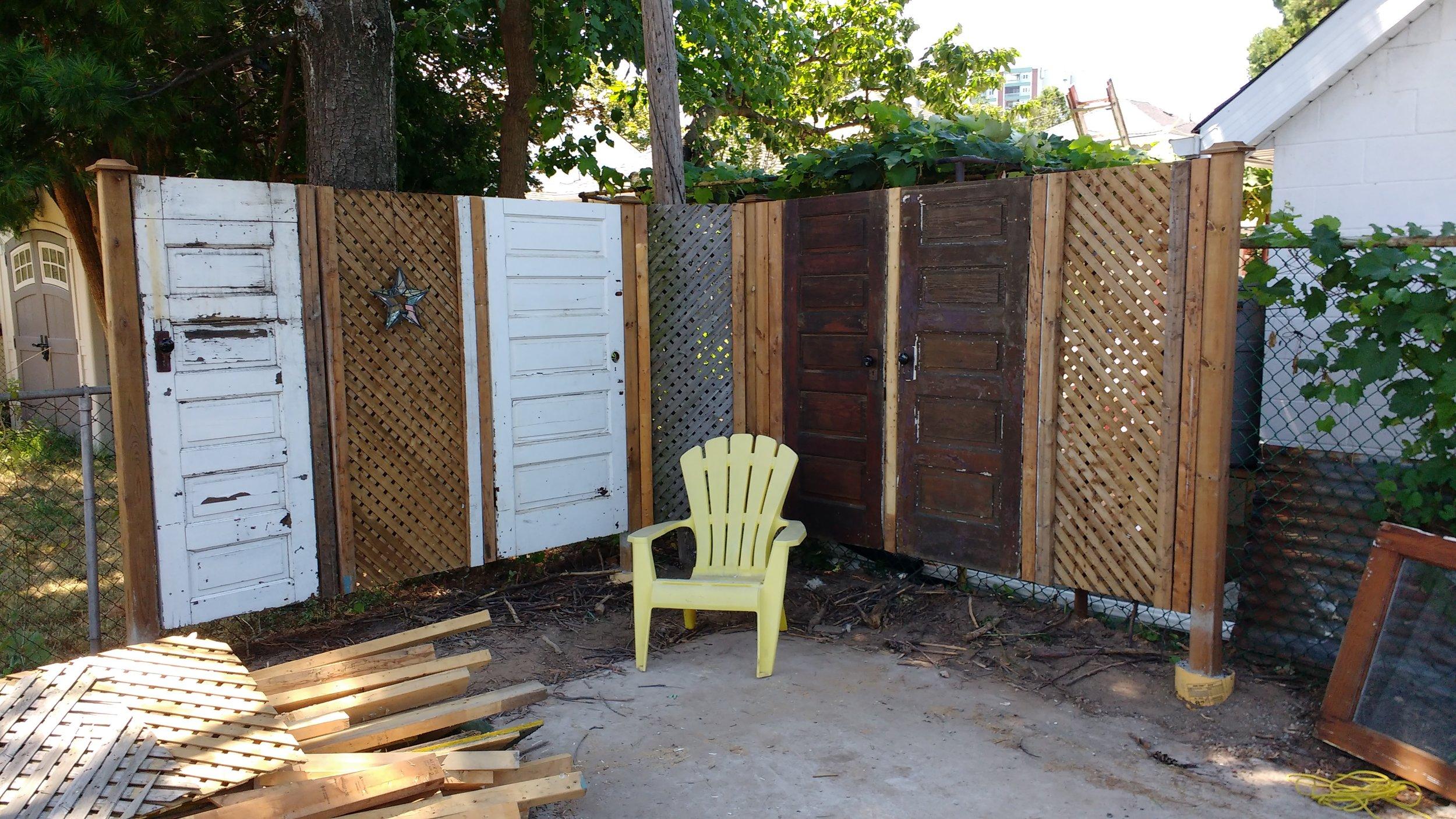 """Wabi-sabi"" fence"