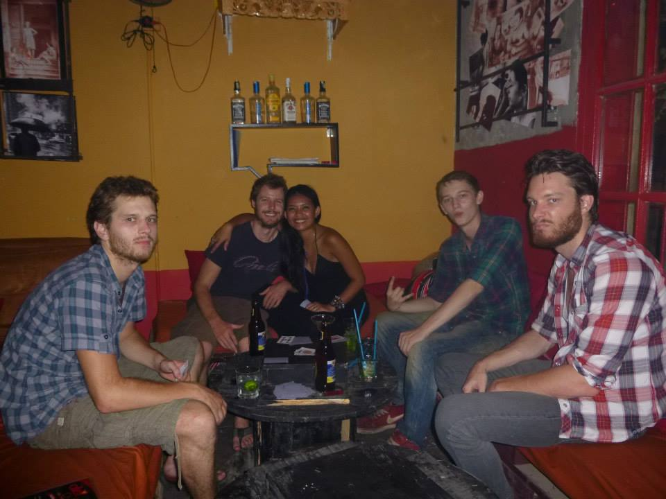 Jonathan with our other 3 Housemates - Seb, Eachan and Martin who we lived with for 7 months in Hanoi!