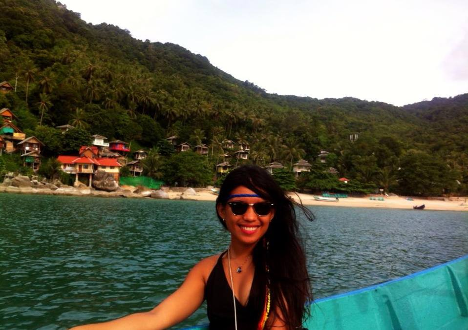Happiness radiating while I was living in Koh Pah Ngan, ThailanD doing yoga everyday for a month!