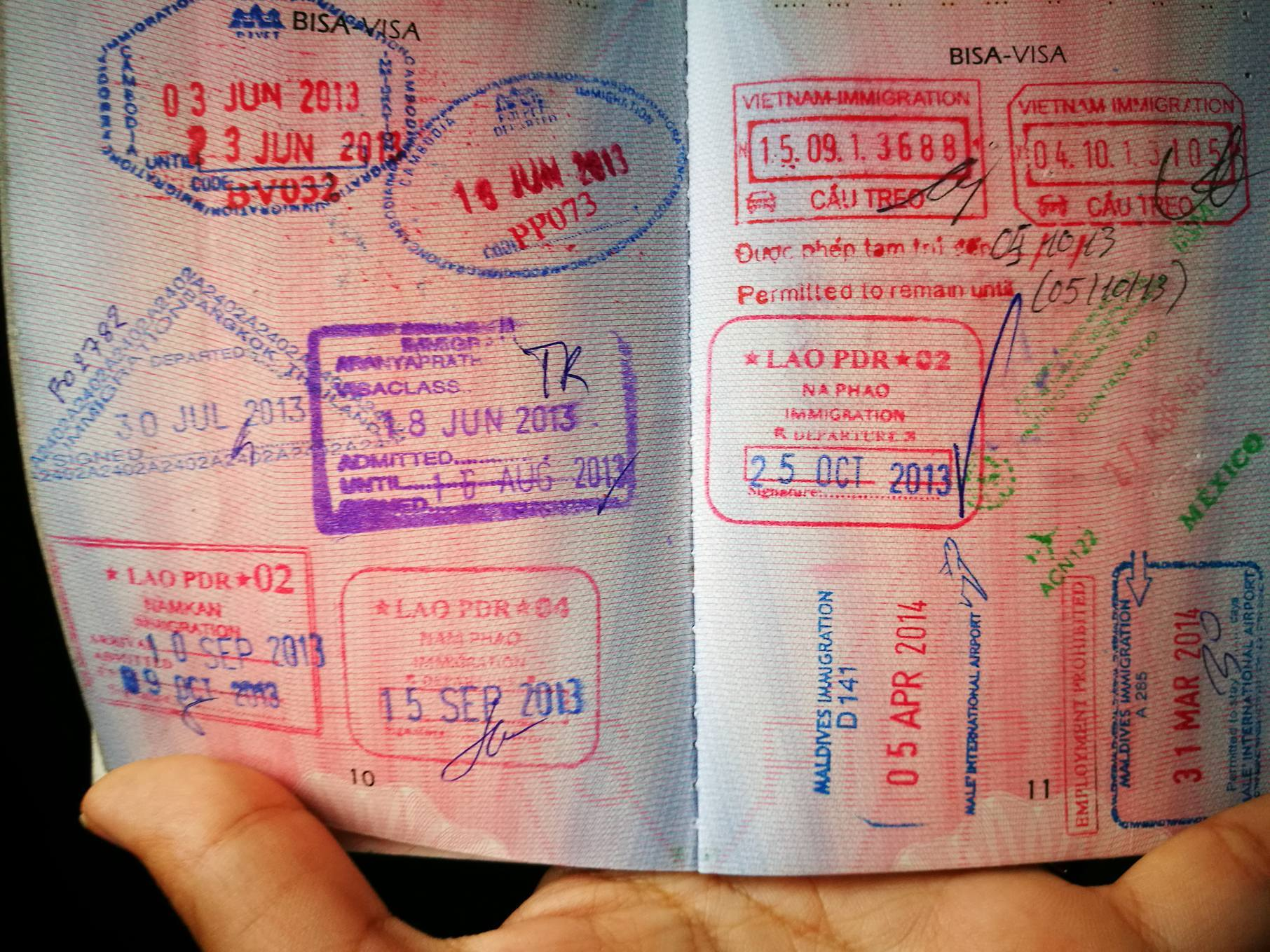 Some stamps on my philippines passport but you'll only get 2 stamps (Entry & exit) when you visit the schengen region no matter how many countries you'll visit in europe.