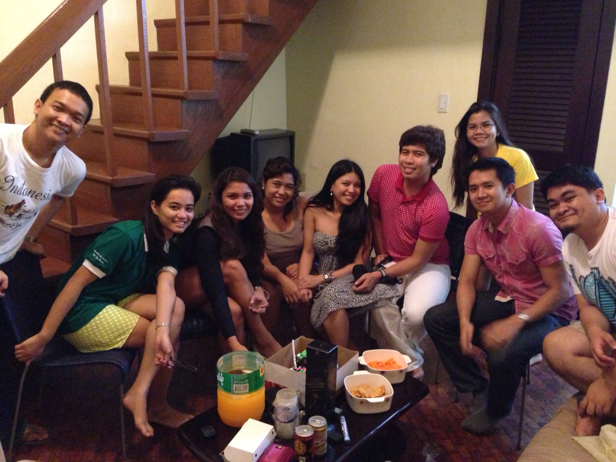 My farewell party with my College friends before I started my backpacking trip...