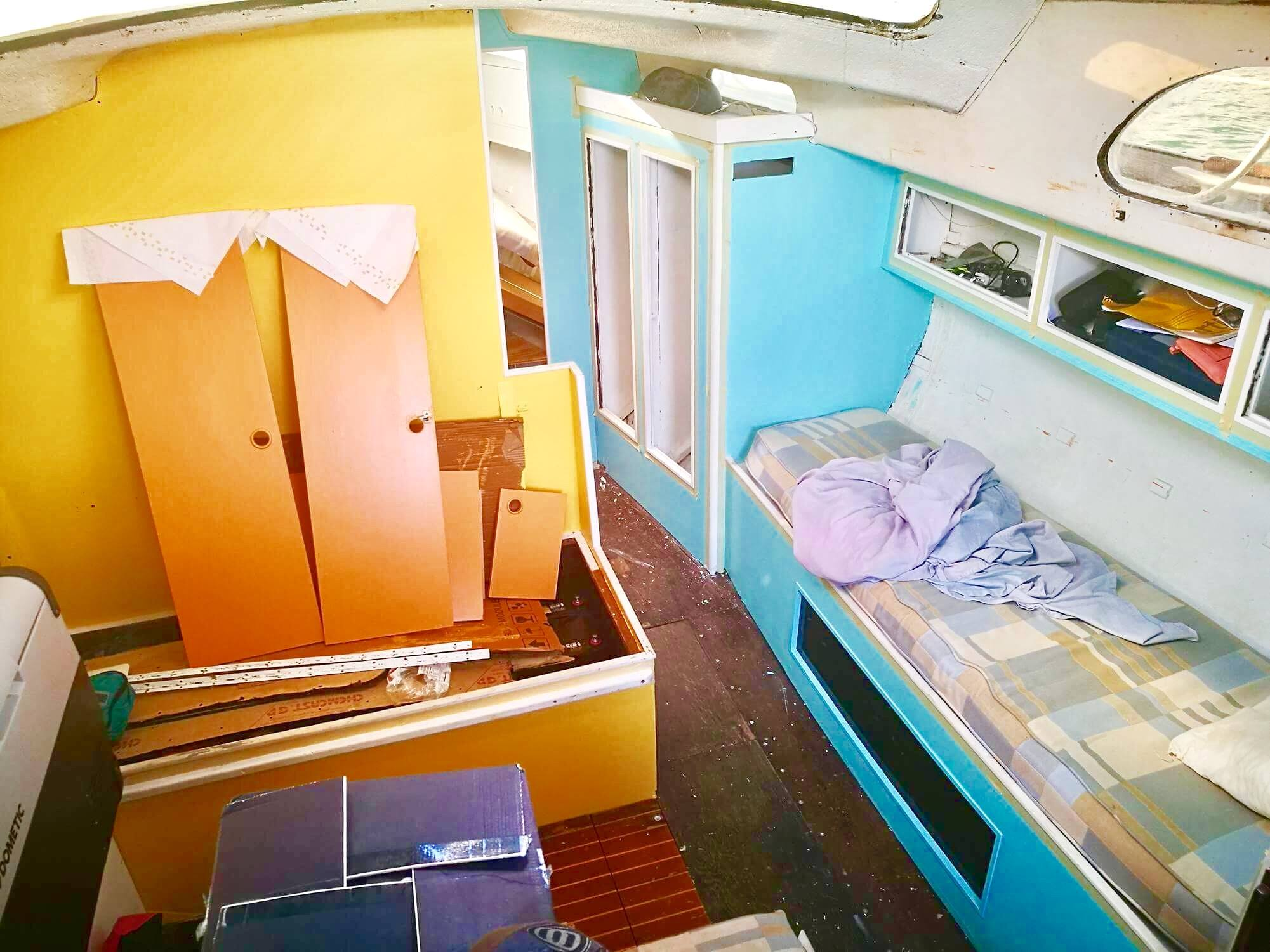 Refitting our Sailboat Interior: From an Antique Sailboat to