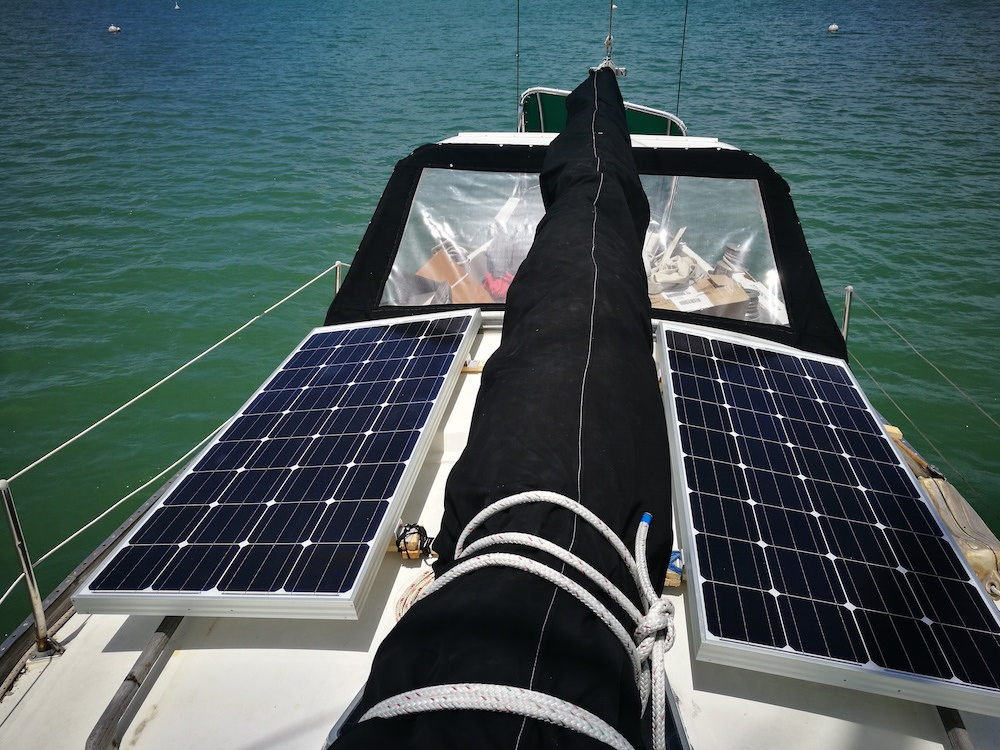 Electricity On Our Sailboat: Our Solar Panels, Inverter and Batteries from Go Power