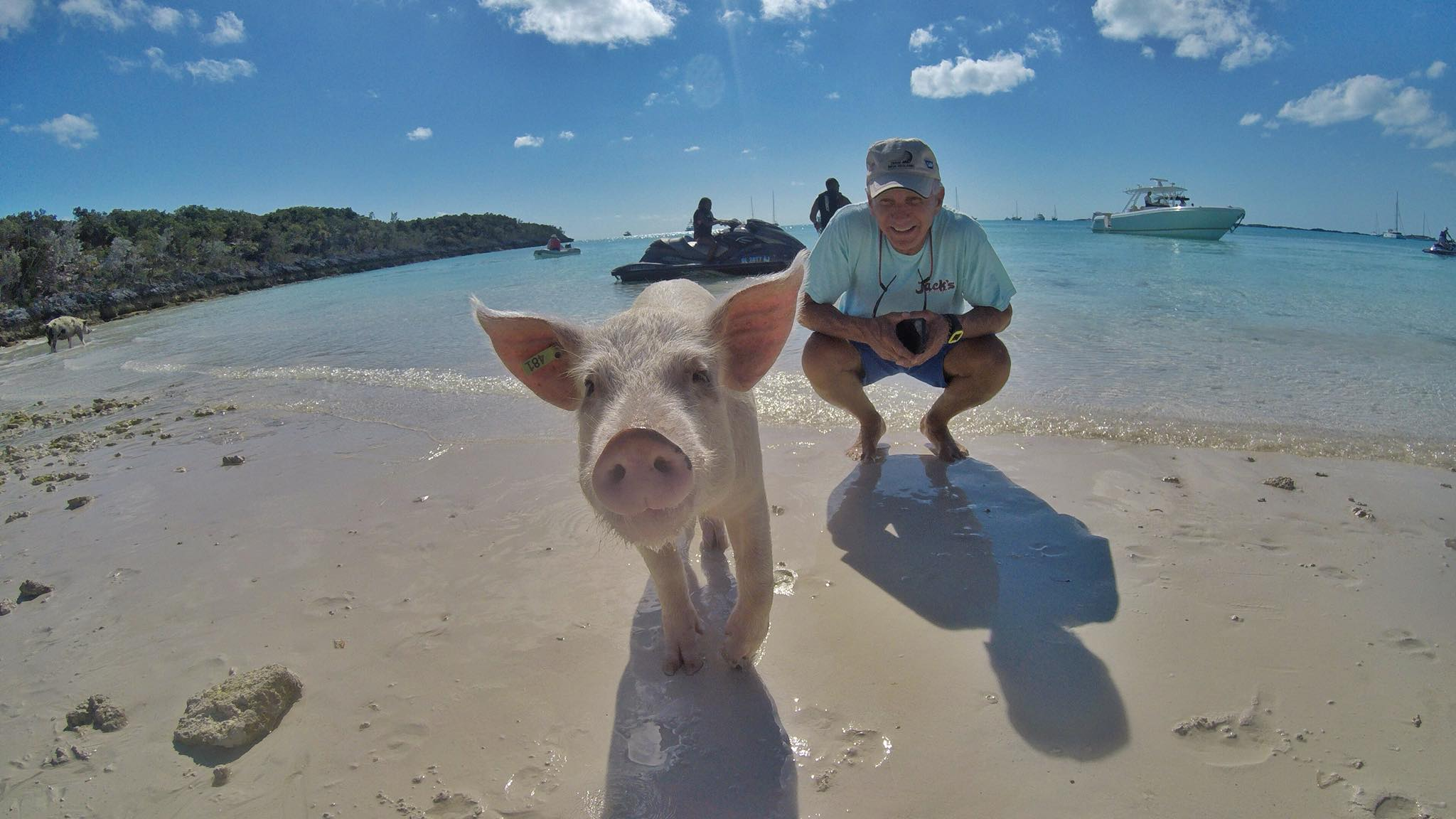 """DAY 21: Sailing to Big Major Cay (""""Pigs Island"""") and a Dinghy ride to Staniel Cay"""